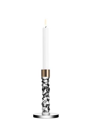 Carat Candlestick Brass Low