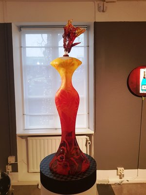 Lady Red Yellow- Kosta Boda