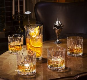 City Old Fashioned Whiskey glass 4-pack - Orrefors