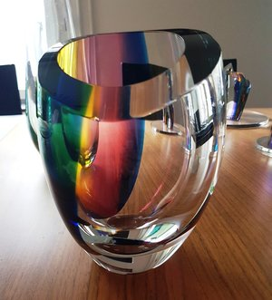 Rainbow Bowl Red Yellow Blue - Kosta Boda Limited