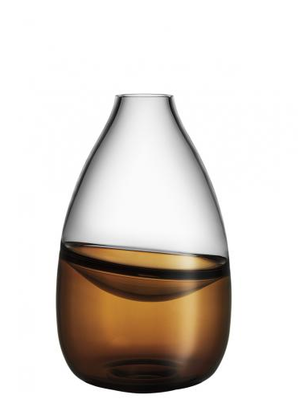 Septum Vase Golden Brown  - Kosta Boda