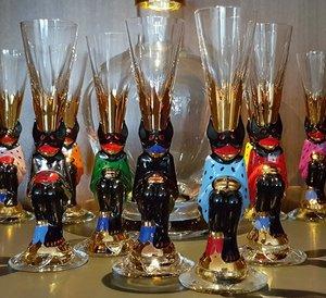 Nobel Devil Glass Black Shot Schnapps - Orrefors