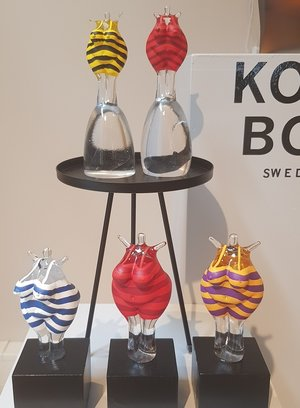 Bath Woman Red  Glass Base  - Kosta Boda Limited