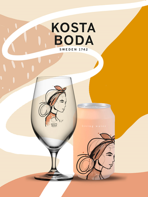 All about you Near You Beer Glass Orange 2-pack - Kosta Boda
