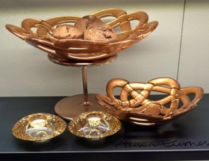 Basket Plate Copper - Kosta Boda
