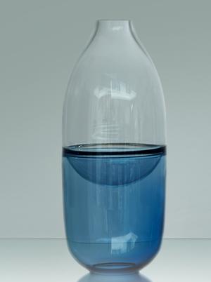 Septum Vase Steel Blue - Kosta Boda