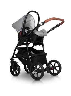 Euro-Cart  Passo  3-in-One Duo Kombi  Svart-Grå  med Bilstol.  Finns i flera färger. Omgående leverans ! Betala Gärna med KLARNA