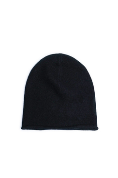Rolled Edge Plain Knit Beanie - Lisa Yang