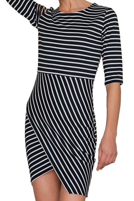 Lisa Dress Black Stripe