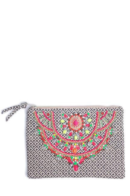 Star Mela Clutch Embroidery