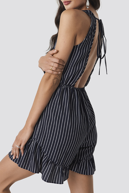 Fatima Stripe Playsuit