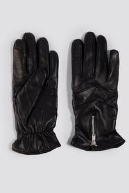 Zip Leather Glove