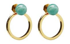 Planet  Earrings Gold