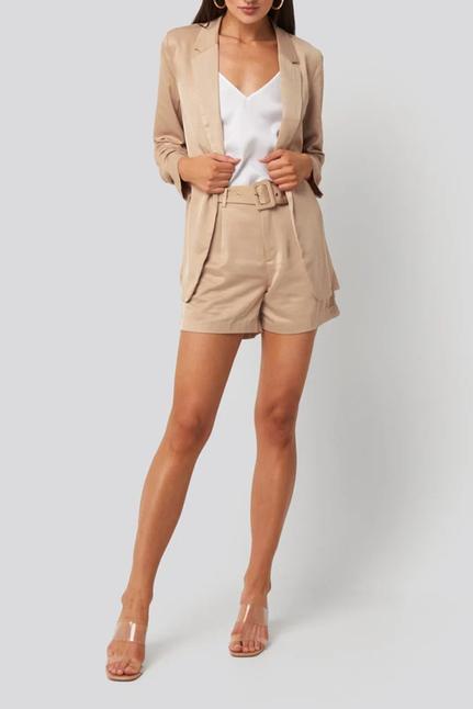 Kelly Satin Belt Shorts