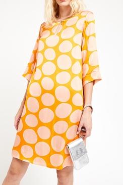Viscose Dress With Macro Polka Dots