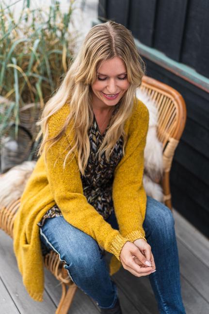Louise Long Knit Cardigan