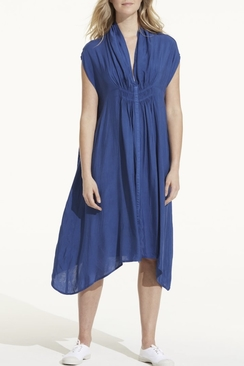 Flo Dress Cupro Royal Blue