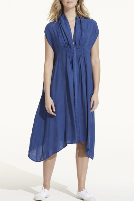 Flo Dress Cupro Royal Blue