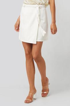 Lina Wrapped Denim Skirt