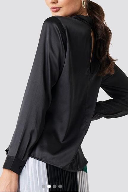 Rebecka Satin Shirt Black