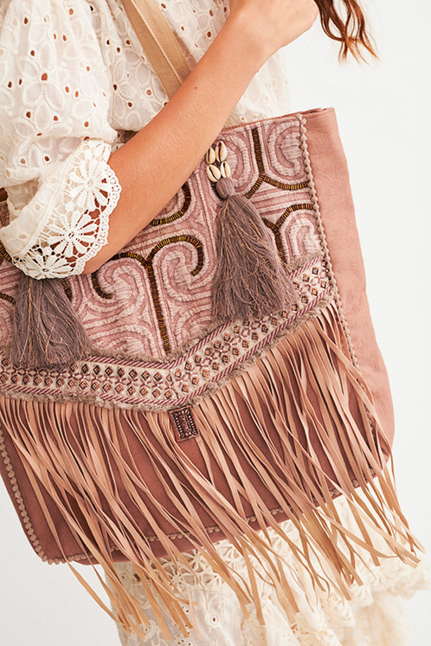Adamuz Embroidery Bag With Ruffles