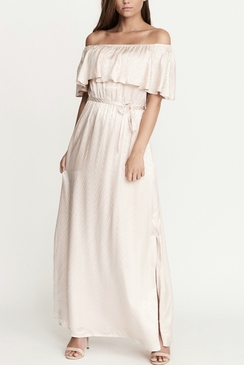 Lassie Dress Pink Zig Zag Satin