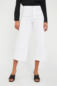 Abby White Crop Jeans