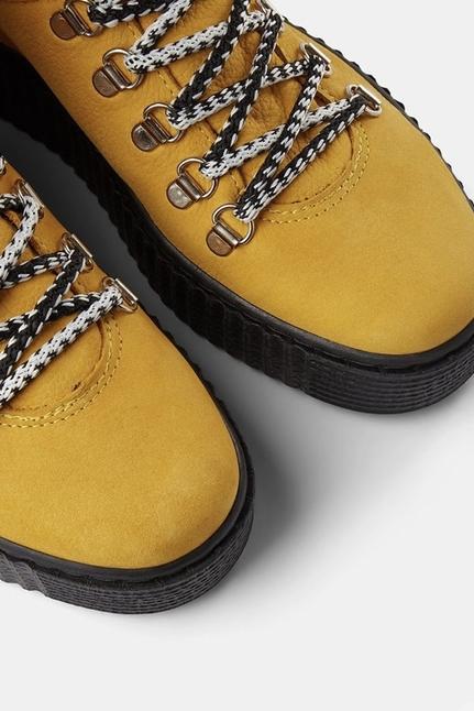 Agda Nubuck Lace-Up Boot