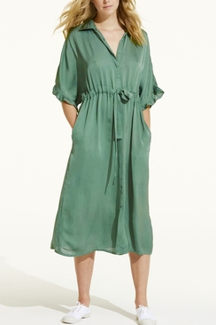 Jasmine Cupro Emerald Dress