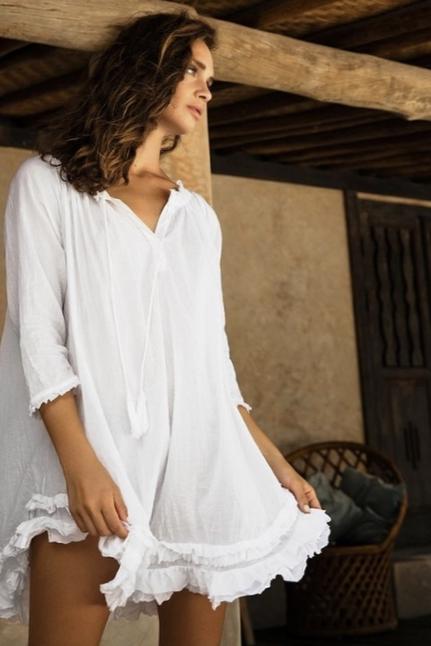White Frilly Dress