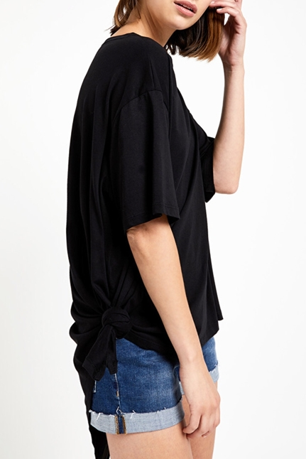 Oversized Cotton Blouse With Asymmetric Bottom