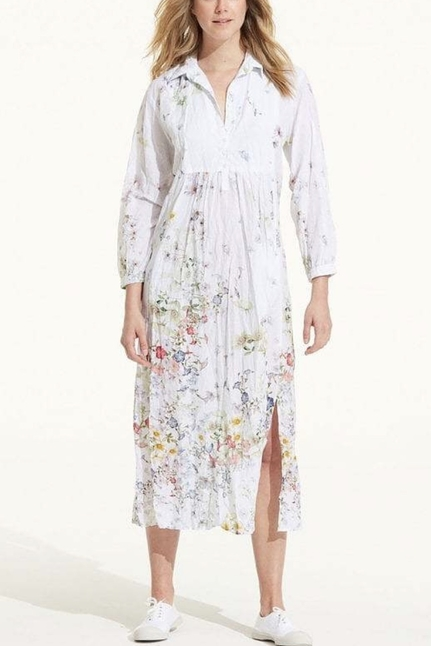 Venice White Cotton Camille Dress