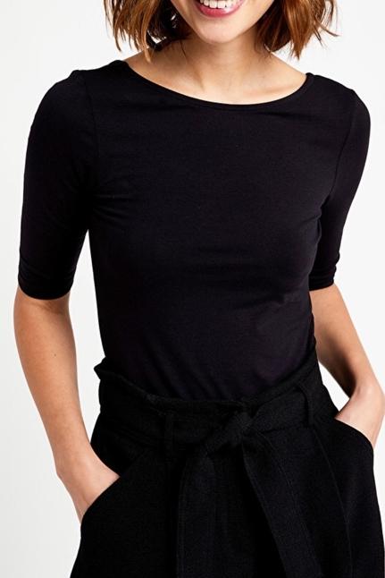 Cotton T-Shirt With Round Neckline
