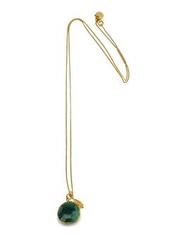 Glam Glam Necklace Gold Green Aventurine