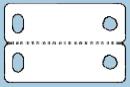 Kedje-etikett 20x32 mm, vit, högglans