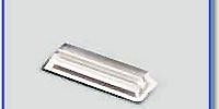 Etiketthållare 22 mm med rak slits, transp
