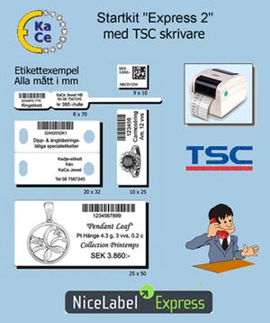 """Startkit """"Express 2"""" med TSC skrivare men utan streckkodsskanner"""