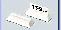 Etiketthållare 18 mm med 25° slits, vit