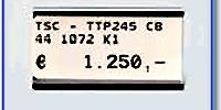 Fristående etikettbärare för 10x22 mm etiketter, svart