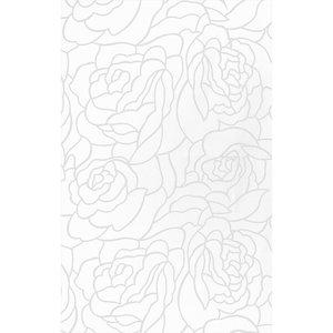 Zasłona łazienkowa ROSES LINE biała