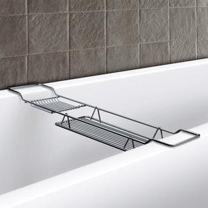 Półka łazienkowa na wannę chrom
