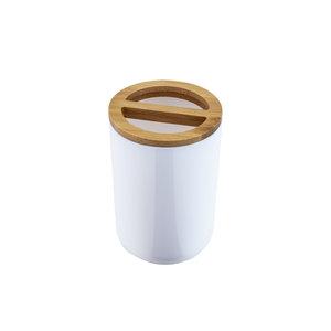 Kubek na szczotki TULSA biały