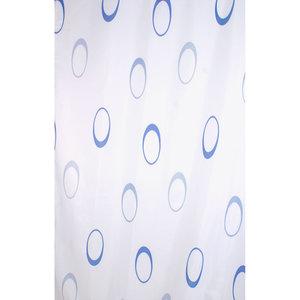 Zasłona łazienkowa DIFFERENT niebieska