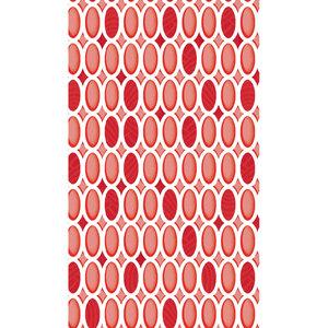Zasłona łazienkowa STONES czerwona