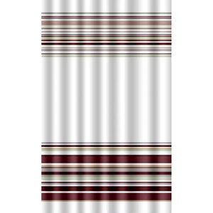 Zasłona łazienkowa BROWN LINES