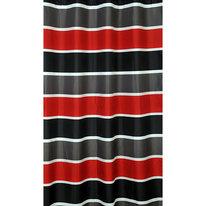 Zasłona łazienkowa RED/BLACK