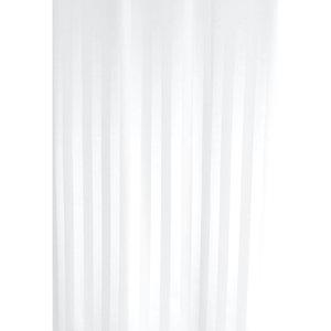 Zasłona łazienkowa ZEBRA biała