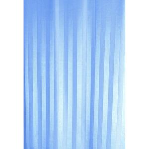 Zasłona łazienkowa ZEBRA jasno niebieska