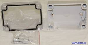 Plastic enclosure and electronic box with transparent cover 80X110X45mm