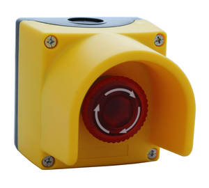 Emergency signal button SCB 4 DL Heavy-duty protective plastic cover